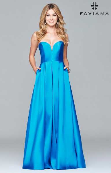 Faviana 7966 Strapless and Sweetheart picture 1