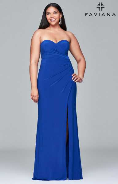Faviana 9413 Strapless and Sweetheart picture 1