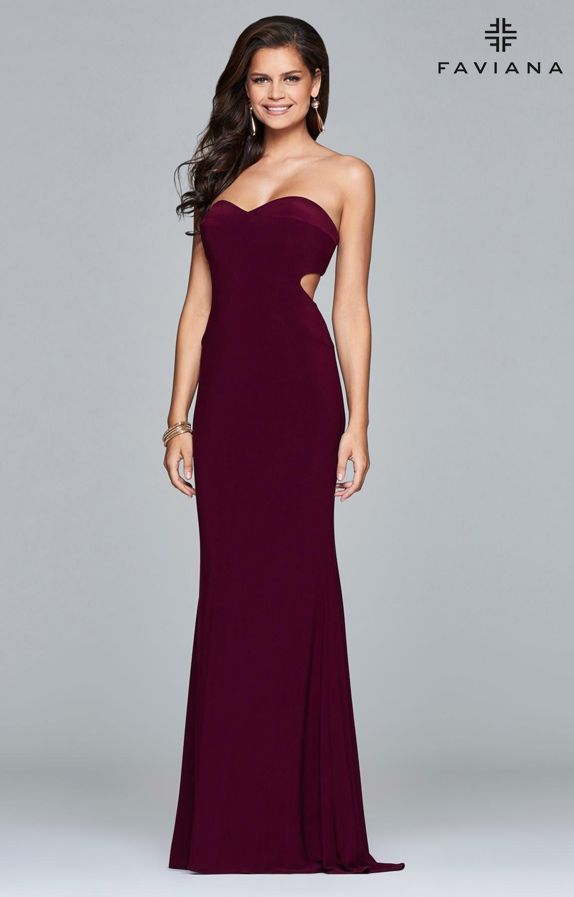 Faviana S7922 Sleek Strapless Sweetheart Dress Prom Dress