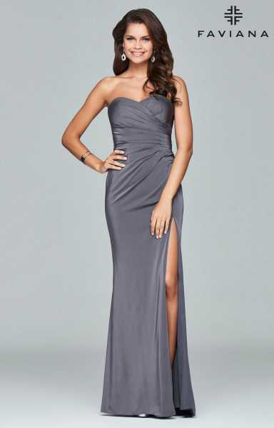 Faviana 7891E Strapless and Sweetheart picture 1