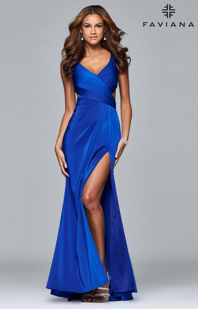 Morgan V Neck Open Back Dress
