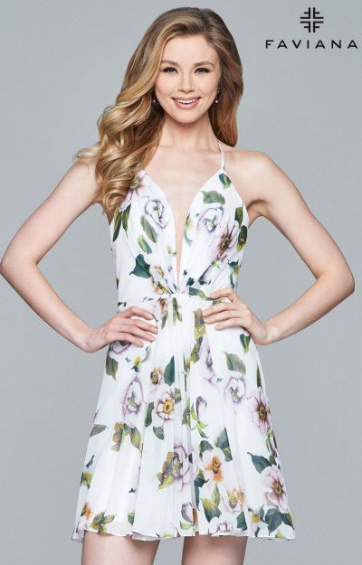Multi-Print Dress with Simple Silhouette