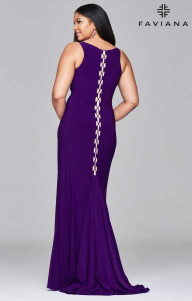 Faviana 9416 Fitted and Plus Size picture 2