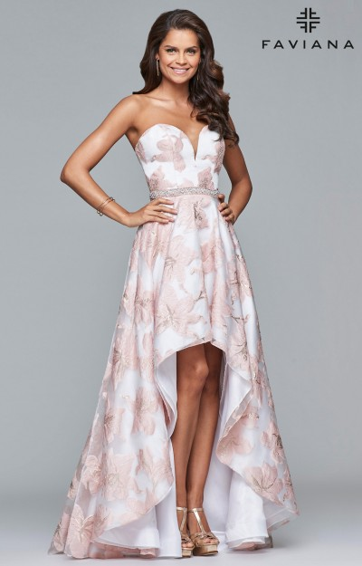 High Low Dresses Prom Plus Size Formal Homecoming