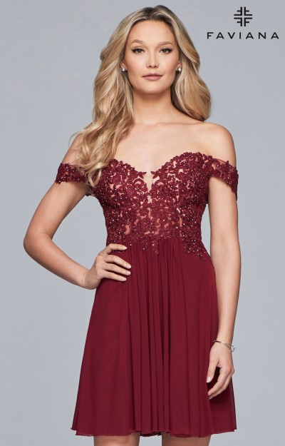 Off the shoulder Flowing Short Dress