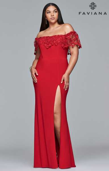Faviana 9422 Fitted and Plus Size picture 2