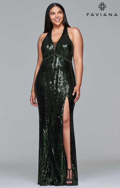 Faviana 9430 Fitted and Plus Size picture 2