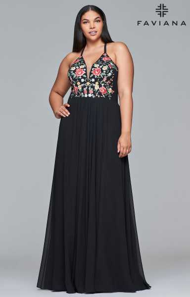 Faviana 9435 A-Line and Plus Size picture 2