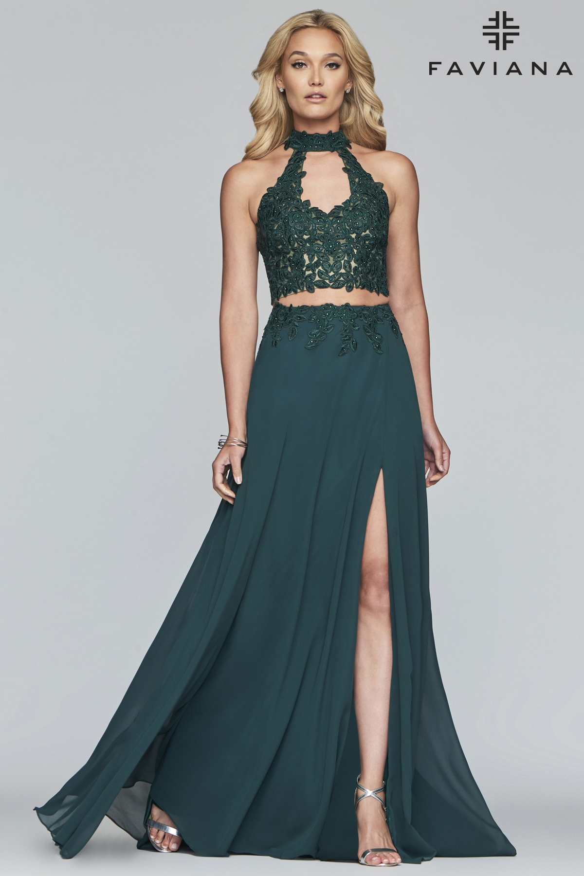 14ee5588eec6f Key To My Heart Two Piece. This gorgeous chiffon Faviana S10220 gown ...