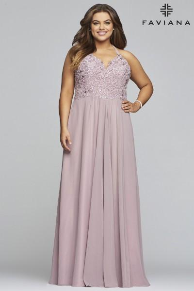 85b7486d668b Jacquard Fabric Mermaid Gown $378.00. Faviana 9445