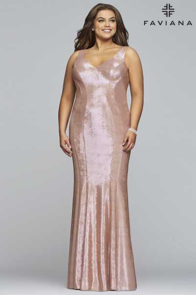 Faviana 9453 Fitted and Plus Size picture 2