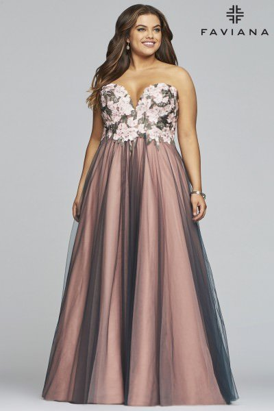65dd272520db Plus Size Prom Dresses | All Colors