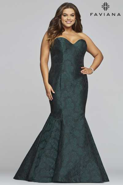 Faviana 9470 Mermaid and Plus Size picture 2
