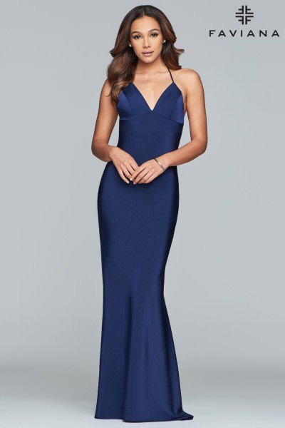 3e058837c54 Faviana S10214 Straight To The Point  298.00. Morilee Prom 43026. Morilee  Prom 43026. Beaded A-Line Open Back Dress ...