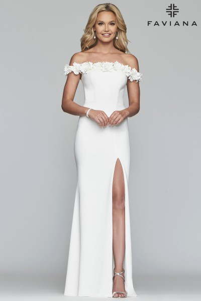 Formal High Slit Dress Sexy Prom Dresses With Slits