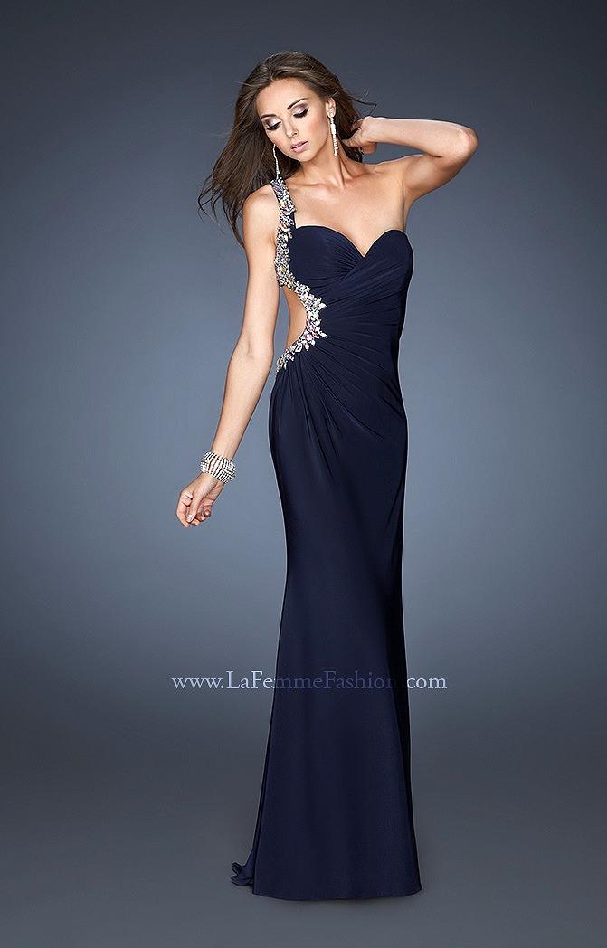 Gigi 18783 - One Shoulder Beaded Dress Prom Dress