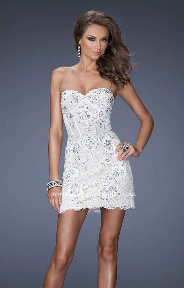 gigi 20054 corset style lace cocktail prom dress