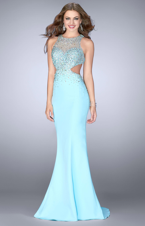 Gigi 23896 - Jersey Dress with Open Back Prom Dress