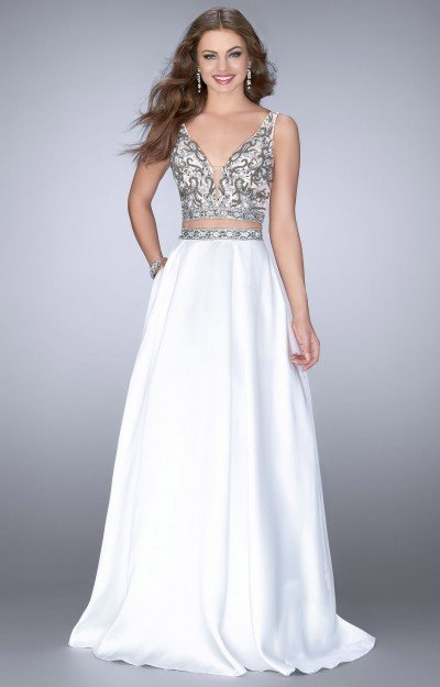 Classy 2 Piece Ball Gown with Pockets