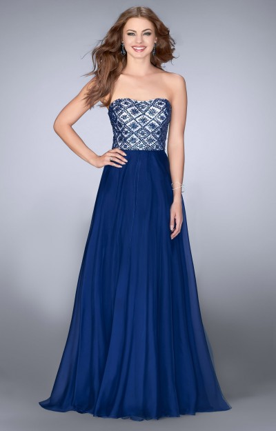 Strapless Gown with Chiffon Skirt