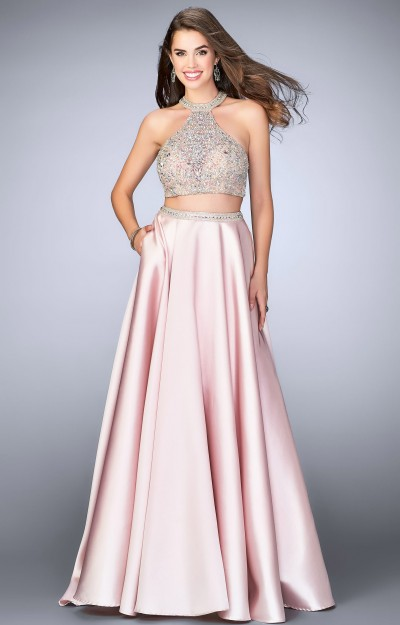Two Piece Pleated Skirt Ballgown
