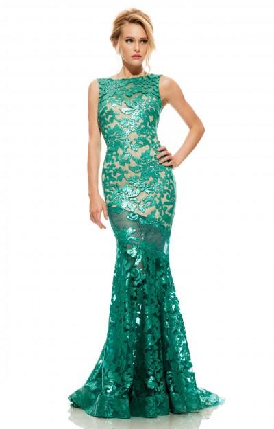 Long black lace dress 22167