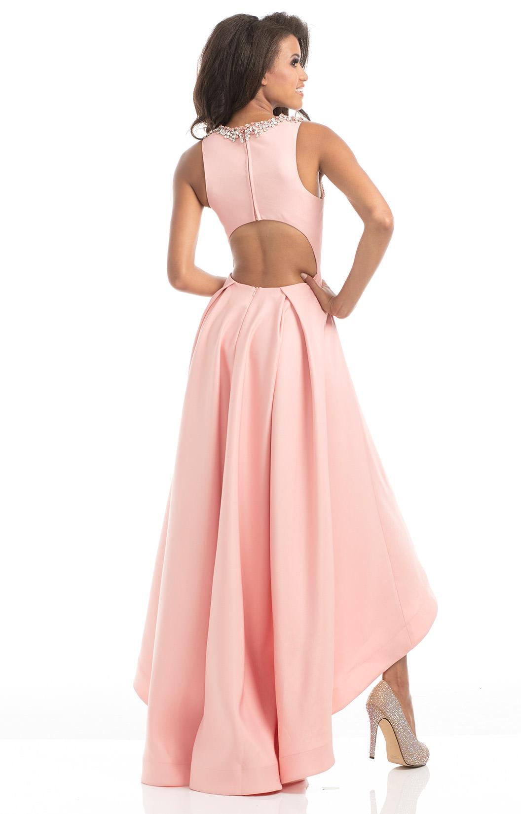 Johnathan Kayne 7004 - Low to High Sleaveless Open Back dress Prom Dress