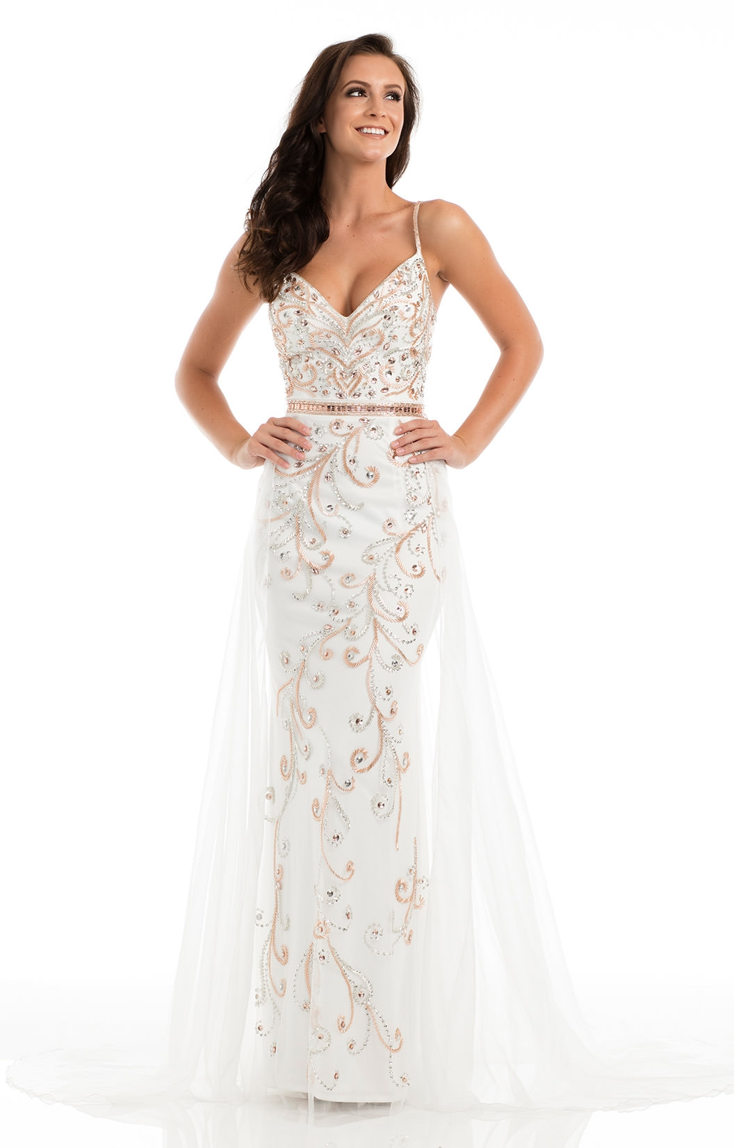 Johnathan Kayne 7008 Fierce Sexy Fitted Long Dress With
