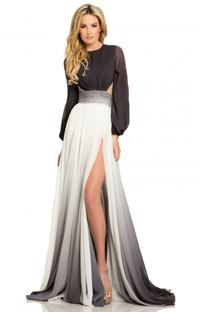 Black and white prom dresses formal evening homecoming for Black and white dresses for wedding guests