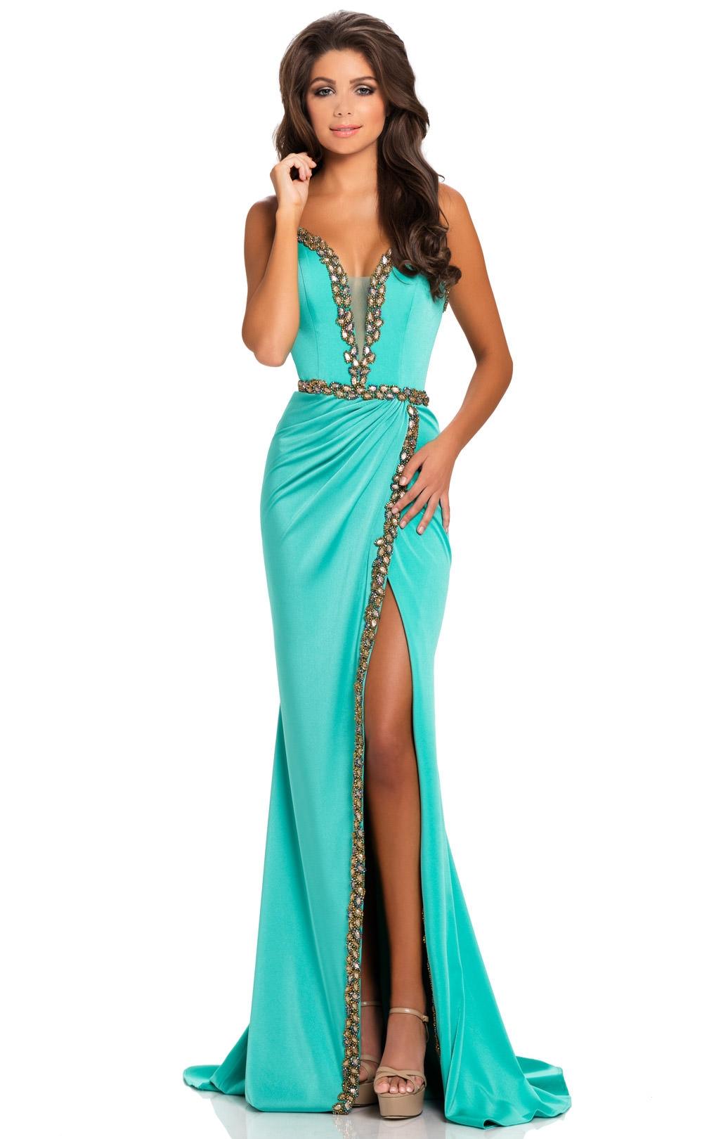 Johnathan Kayne 8076 - Strapless Stretch Crepe Slit Prom Dress