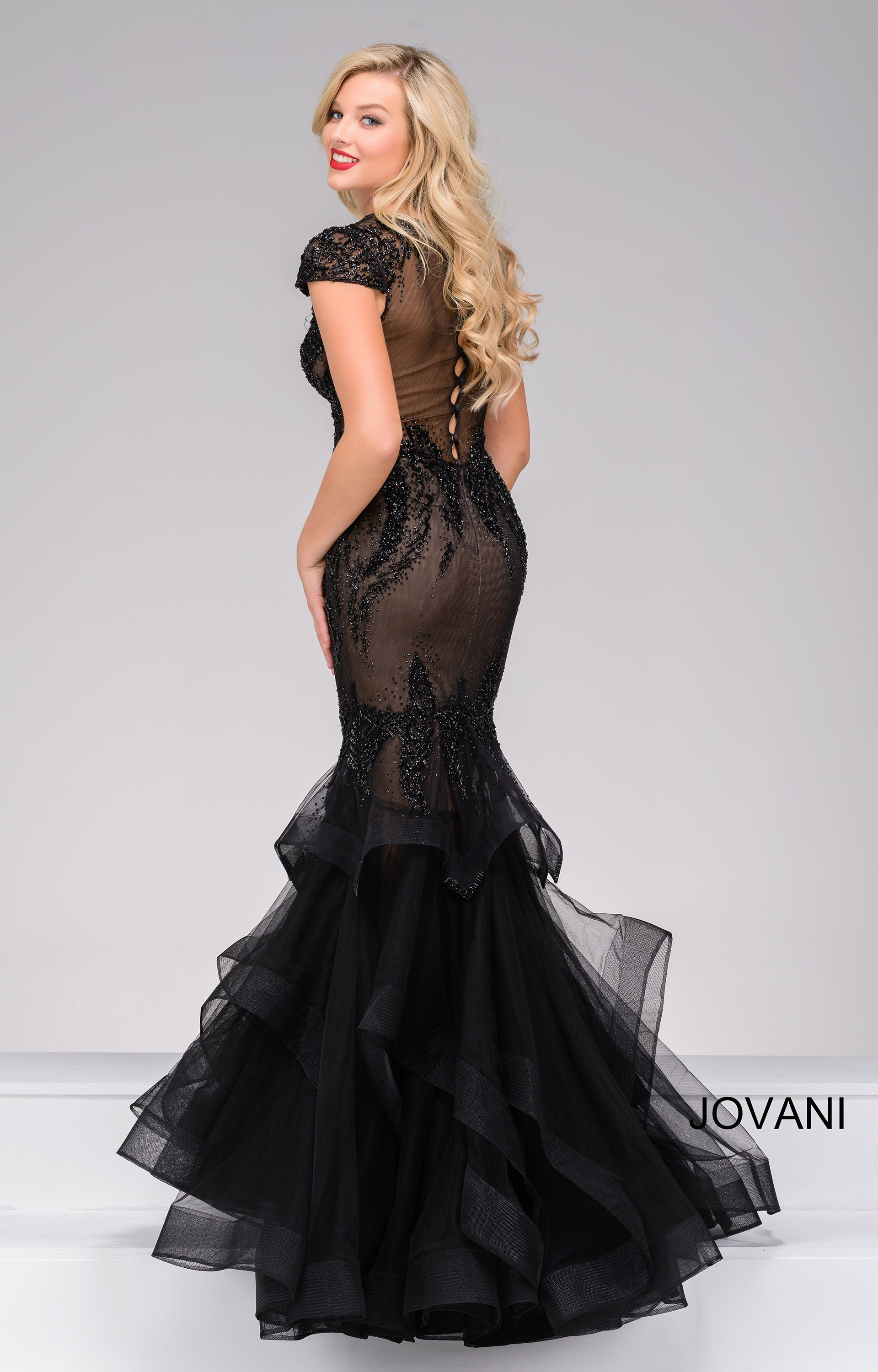 Jovani 26947 Sexy And Sheer Mermaid Gown Prom Dress