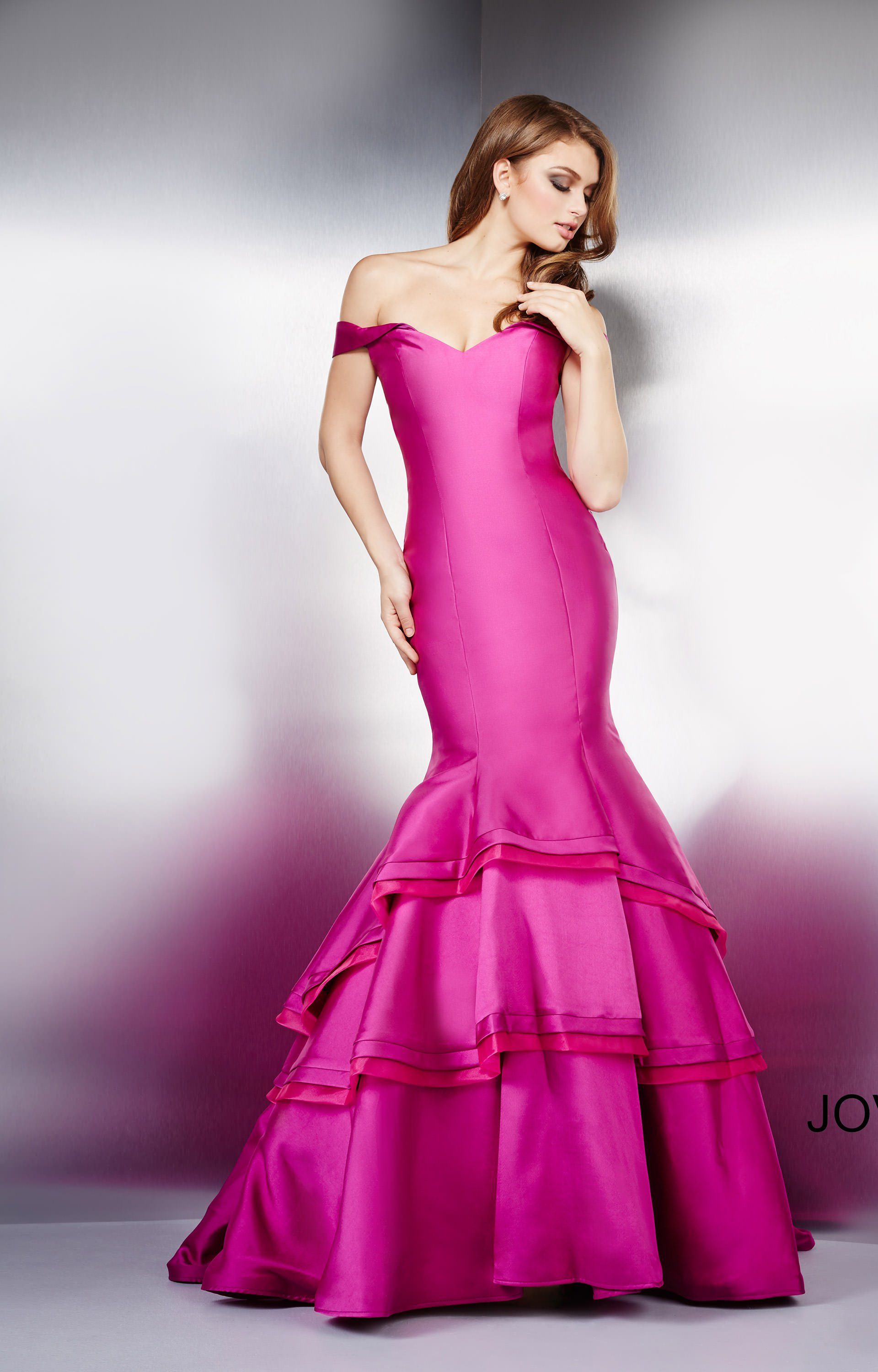 Jovani 31100 - Triple Ruffle Mermaid Dress Prom Dress
