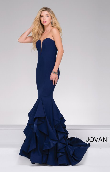 Jovani 31625 Sweetheart Strapless Deep V Neckline