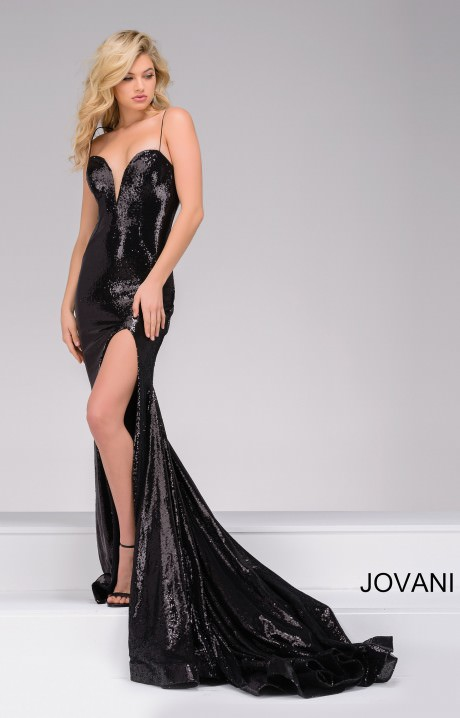 Jovani 40436 Sequin V Neck Dress Prom Dress