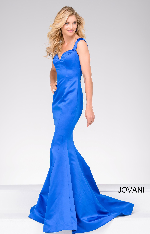 Jovani 40720 Satin Sleek Fit And Flare Mermaid Dress