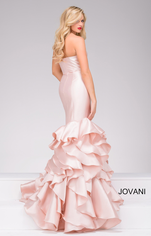 Jovani 41622 Fit And Flare Ruffle Mermaid Skirt Prom Dress
