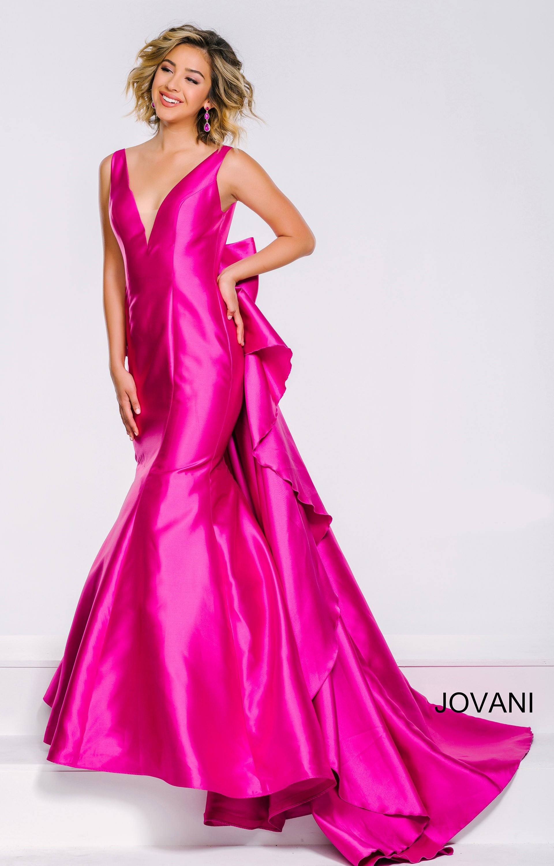 Jovani 41644 All Wrapped With A Bow Tiffany Satin