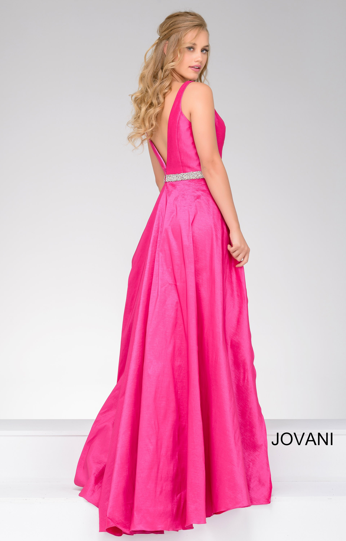 Jovani 42401 - Deep V neckline Mermaid Cape Dress Prom Dress