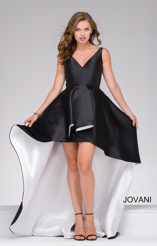 Jovani 43016 Satin Two Tone High Low Dress Prom Dress