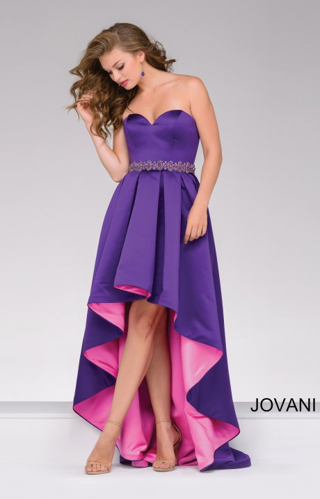 Jovani 45170 Strapless Sweetheart Two Tone High Low