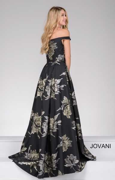Jovani 48361 Off The Shoulder and Sweetheart picture 1