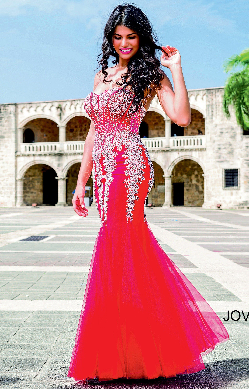 Jovani 5908 - Crystal Sweetheart Strapless Mermaid Dress Prom Dress
