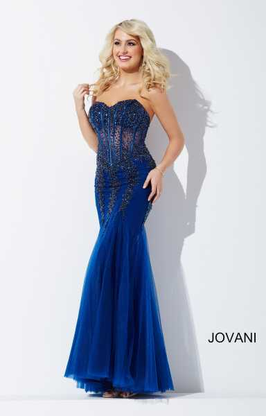 Jovani 5908 Strapless and Sweetheart picture 1