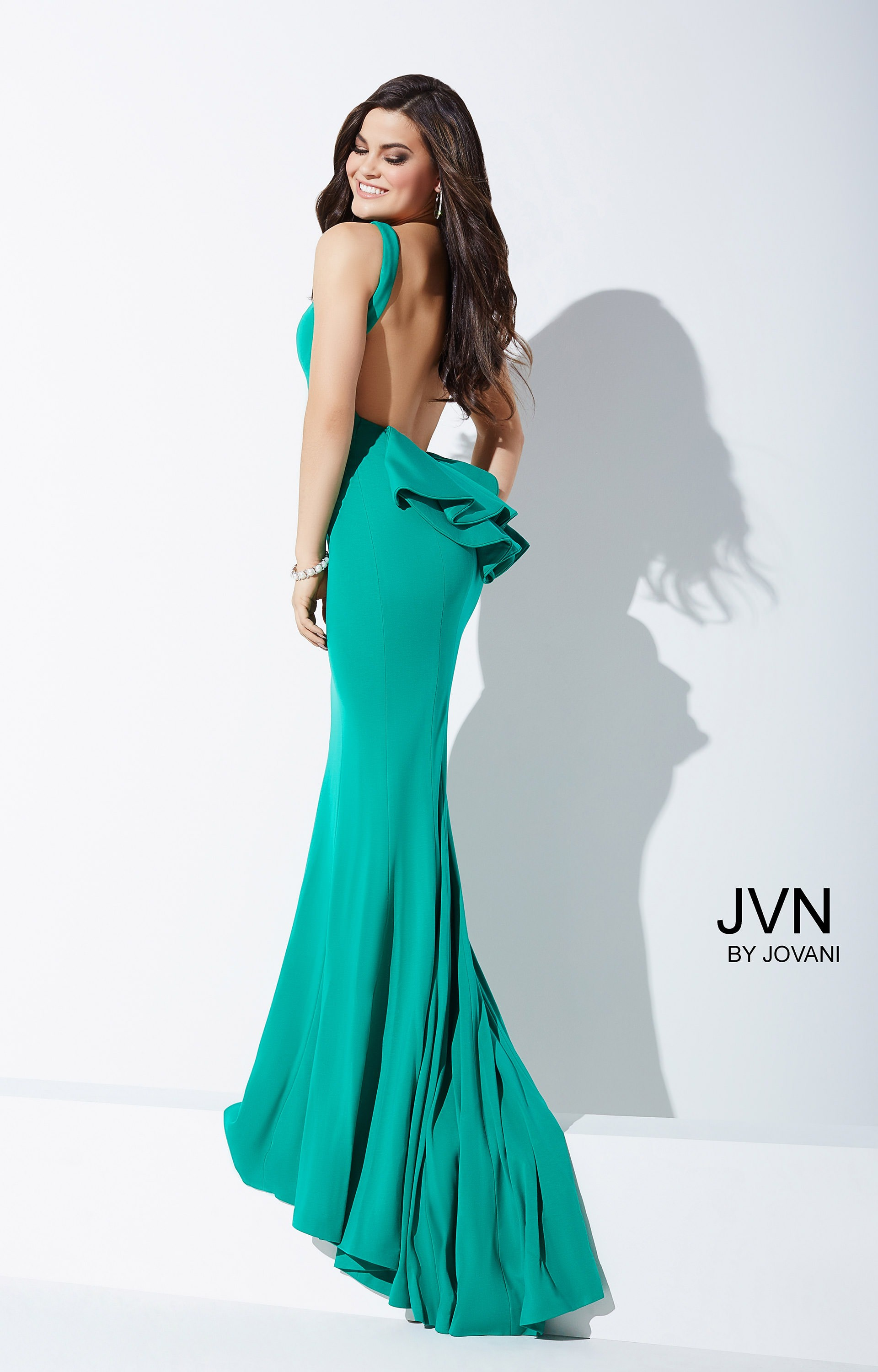 Jovani jvn32628 - Sleeveless Fitted Jersey with Open Back and ...