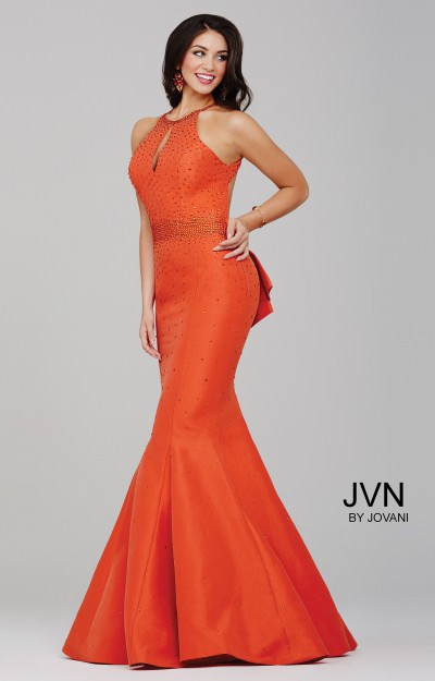 orange prom dresses formal gowns mermaid high low lace
