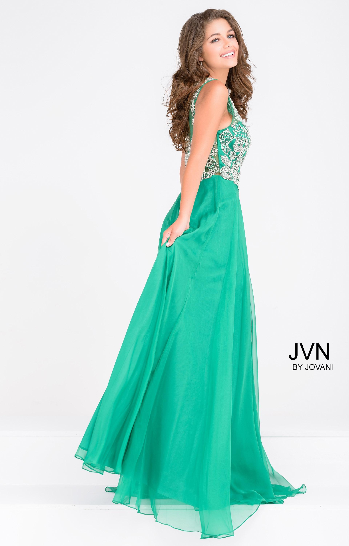 Jovani jvn48709 - High Neck Beaded Chiffon Gown Prom Dress