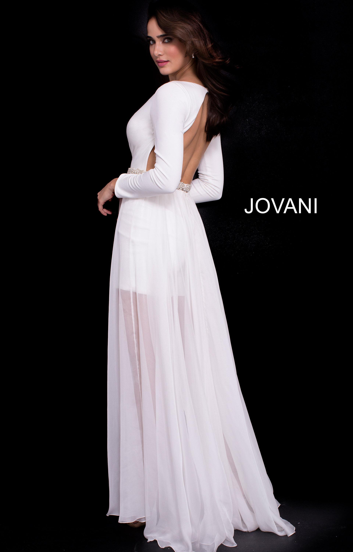 8e0a5f6d72c Jovani 49266 - Long Sleeved Romper Prom Dress