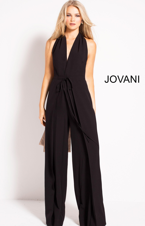 d6b8e8452110 Jovani 51279 - V-Neckline Formal Jumpsuit