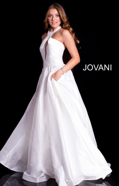 Jovani 51500 - Halter Top Ball Gown Prom Dress
