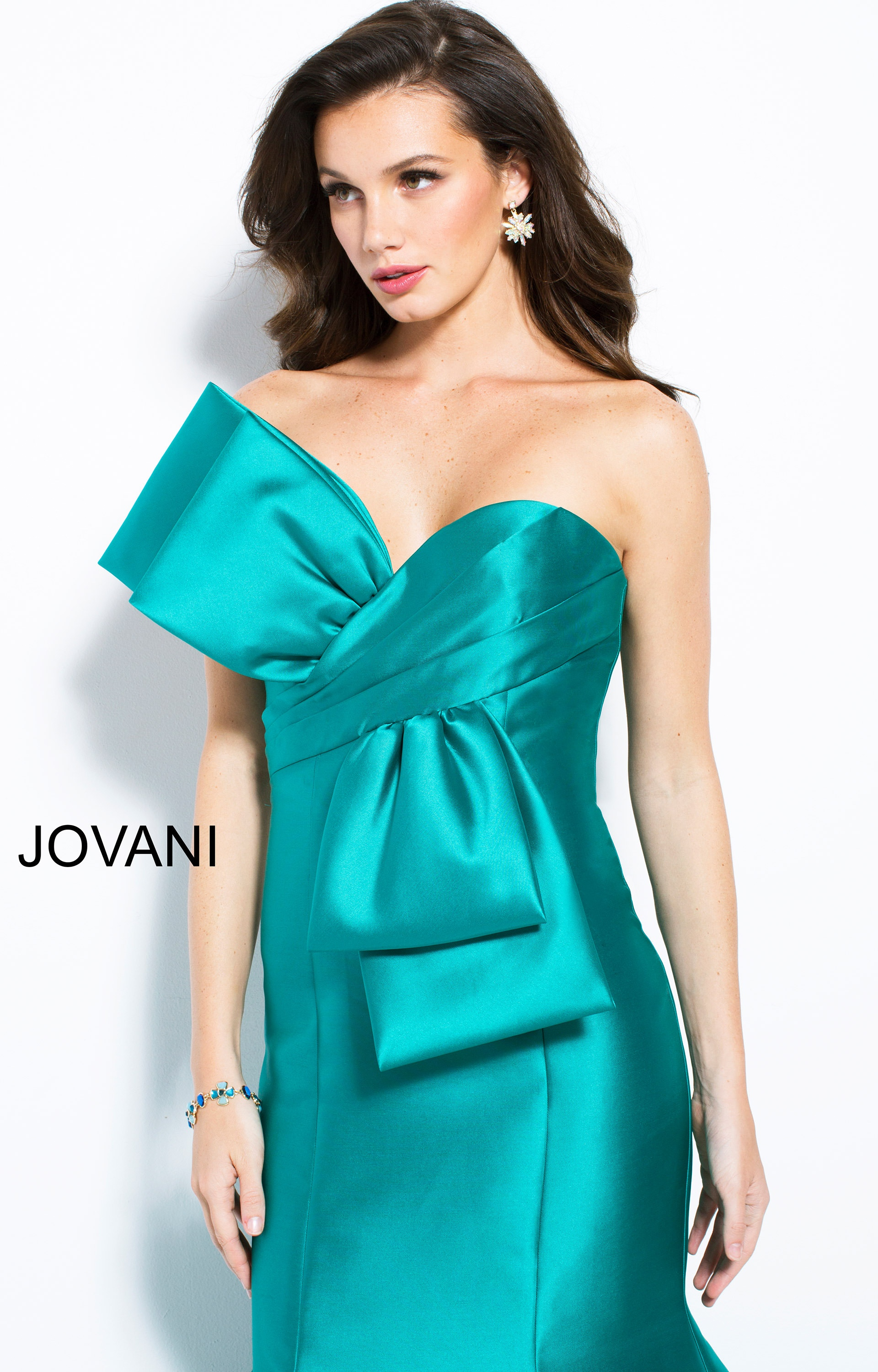 Jovani 51662 Satin Strapless Mermaid Prom Dress